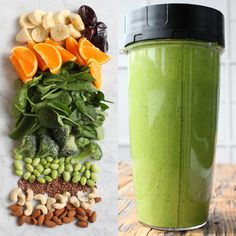 Green Smoothie Recipes, Juice Smoothie, Smoothie Drinks, Fruit Smoothies, Smoothie Bowl, New Recipes, Healthy Recipes, Healthy Food, Breakfast Snacks