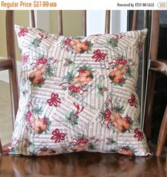 Holiday Pillow Christmas Music Pillow Old by SusieBDesigns on Etsy