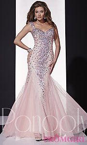 Buy Long Open Back Sweetheart Gown by Panoply at PromGirl