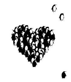 A creative magazine for art lovers Penguin World, Penguin Day, Penguin Life, Penguin Illustration, Graphic Design Illustration, Penguin Tattoo, Creative Pictures, All Birds, Heart Art