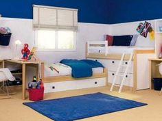 Small Kids Boys Bedroom for Two Kids