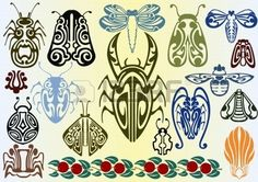art nouveau insects