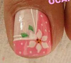 Pedicure Designs, Pedicure Nail Art, Toe Nail Designs, Toe Nail Art, Cute Toe Nails, Pretty Nails, Spring Nails, Summer Nails, Hawaiian Nails