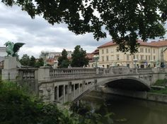Triple bridge in Ljubljana - beautiful city, very welcoming to tourists. I'd come here again.