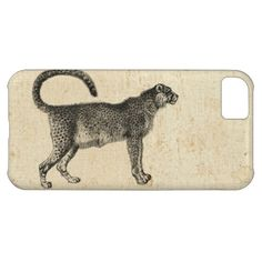 #Vintage #cheetah with old #antique look. #parchment