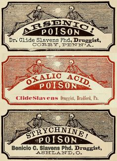 poison labels.