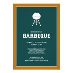 If you are looking for a BBQ or Outing invitation cards, then this Barbeque Grill Party Invitation Card is perfect for you, and it's totally customizable!
