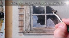 Dry Brush Tutorial for creating Texture in Watercolor. Easy to follow fo...