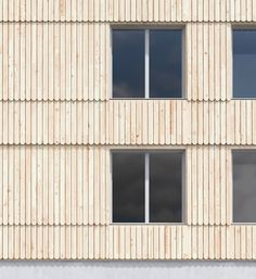 ZOOM_HEMSIDA Timber Cladding, Exterior Cladding, Concrete Architecture, Architecture Details, Building Facade, Building A House, Wooden Facade, Timber Roof, Facade Lighting