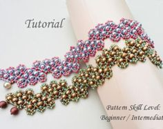 ZIGZAG beaded bracelet beading tutorial beadweaving pattern seed bead beadwork jewelry beadweaving tutorials beading pattern instructions