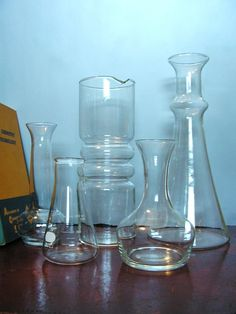 Vintage Science Lab Glassware, Vials, and Test Tubes