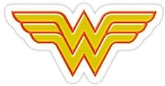 Wonder Woman die-cut logo sticker that you can put on almost anything