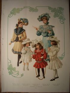 edwardian dresses / 1903 Pattern Advertisement Butterick Victorian Dresses Gowns Edwardian Costumes Vintage Fashions. $7.95, via Etsy.