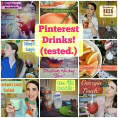Pinterest Drinks Tested A #cocktail for every day of the week! via @kat