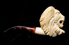 Vintage Meerschaum Hand Carved Pipe from Woodstock Antiques