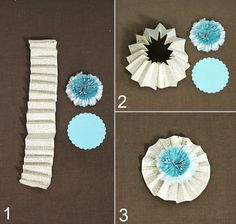 how to make paper fan rosettes from  celebrationsathomeblog.com