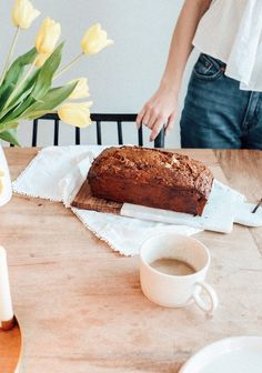 Muffin Bread, Sweet Breakfast, Easy Snacks, I Foods, Baked Goods, Sweet Recipes, Banana Bread, Good Food, Dessert Recipes