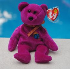 769a4a1343b Details about TY Beanie Babies Purple 1999