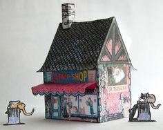 The Catnip shop paper model re-paint
