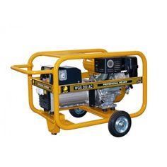 Motosoldadora generador Benza WGS 200 AC La Motosoldadora-generador Benza WGS 200 AC está fabricado con motor Subaru EX 40 14  HP - Cilindrada = 404 cc  - Arranque = Eléctrico - Depósito combustible 7 Ltrs. - Peso 112 kg.