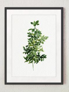 Thyme Painting Green Botanical Art Print Medicinal Herbs
