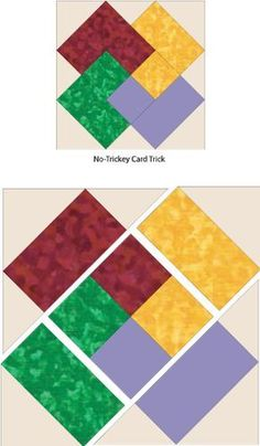 Debby Kratovil Quilts: No-Tricky Card Trick – und FREE Pattern - Patchwork Crazy Quilt Blocks, Patch Quilt, Block Quilt, Quilt Patterns Free, Pattern Blocks, Free Pattern, Simple Quilt Pattern, Quilt Block Patterns 12 Inch, Patchwork Patterns
