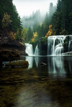 Into the Mystic, lower river Falls, Northwest, Washington, USA.