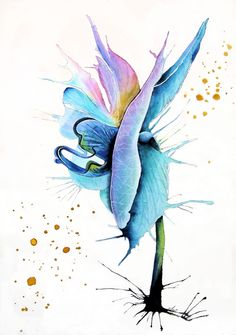 Orchid Watercolor and ink