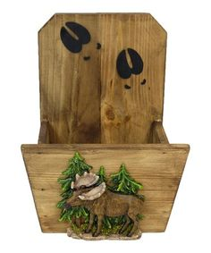 Hang up this rustic planter for a convenient spot to display fresh bouquets or meadow cuttings. Rustic Planters, Wildlife Decor, Lodge Decor, Self Watering, Tree Wall, Wood Construction, Before Christmas, Wood Species, Compost