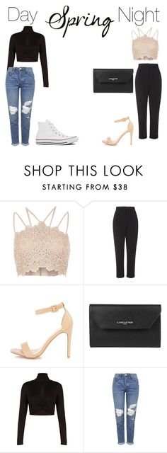 """Untitled #38"" by pops15 ❤ liked on Polyvore featuring River Island, Topshop, Lancaster, BCBGMAXAZRIA and Converse"