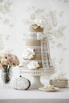 I love the idea of using lace as the ribbon.