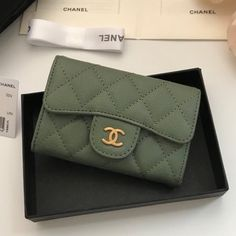 Chanel Classic Small Quilted Wallet Style code: Size: x x inches Chanel Wallet, Small Quilts, Continental Wallet, Purses, Sunglasses, Classic, Accessories, Women Bags, Women's