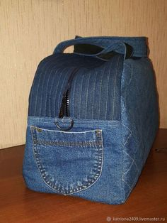 Buy or order a denim travel bag .- Buy or order a denim travel bag in the online store at the Fair of Masters. With delivery in Russia and the CIS. Size: 45 * 28 * 22 Source by - Denim Backpack, Denim Bag, Mochila Jeans, Sewing Jeans, Jean Purses, Diy Bags Purses, Denim Crafts, Bag Patterns To Sew, Pattern Sewing