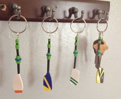 Custom Team Full Rowing Oar Keychain on Etsy, $14.99