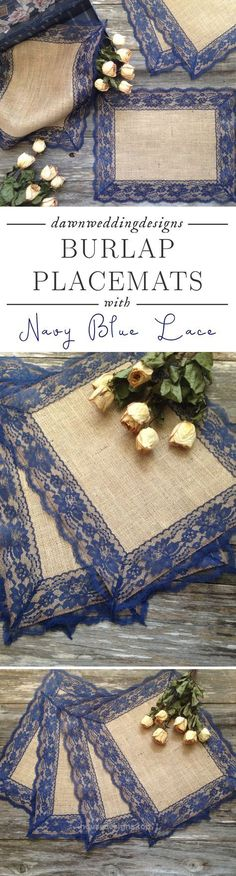 Rustic Navy Blue Wedding Décor – Rustic Placemats – Burlap and NAVY / DARK BL…  http://www.housedesigns.top/2017/07/23/rustic-navy-blue-wedding-dacor-rustic-placemats-burlap-and-navy-dark-bl/