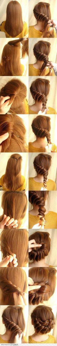 twisted braid bun thing