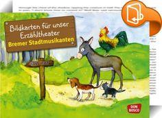 Die Bremer Stadtmusikanten    ::  Die beliebten Bildkartensets zu den Märchen…