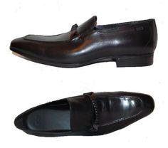Hugo Boss Black Men's Loafers Leather Buckle Dress Shoes Size US 12 UK 11 #HUGOBOSS #LoafersSlipOns