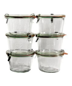 Take a look at this 0.25-Liter Weck Jar - Set of Six by ACME Party Box Company on #zulily today!