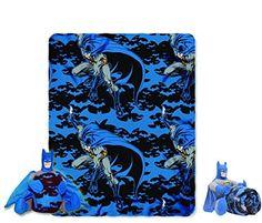 Batman Dark Knight Cuddly Snuggle Pillow and Fleece Blanket - 2 Piece Travel Set @ niftywarehouse.com #NiftyWarehouse #Geek #Fun #Entertainment #Products