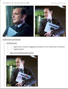 Agent Coulson. Hahaha, the comments!