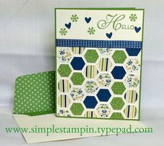 """Lacy & Lovely"" - Stampin' Up! Nice job on this card. Now we just need SU to make a hexagon punch."
