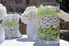 Confetti per un matrimonio a tema bianco e verde. Foto by Just Married - Wedding planner Trento (TN)