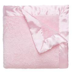 Pink Fleece Baby Blanket | Monogrammed Baby Blankets | Liz and Roo Fine Baby Bedding