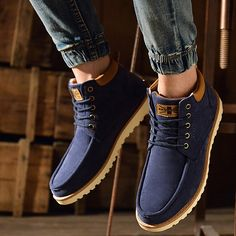 High-quality Men Suede High Top Non-slip Lace Up Casual Boots - NewChic Mobile.