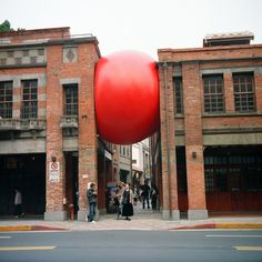 This Is Cool :)  RedBall Project: A Giant Red Ball That Travels The World