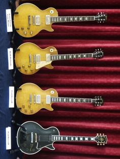 Peter Green/Gary Moore, Keith Richards and Paul Kossoff Les Pauls