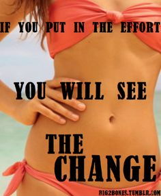 Put in the effort and you will see the change!