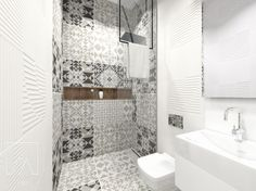 Małe jest modne? ;) Geometria oraz stonowane połączenie faktur i kolorów wspaniale się odnajdują w niewielkiej przestrzeni :) #mała #łazienka