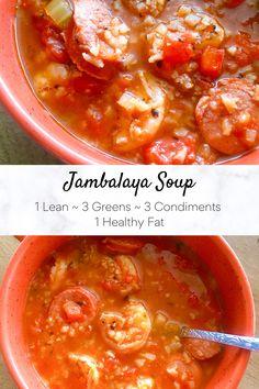 Shrimp Recipes Easy, Cajun Recipes, Sausage Recipes, Healthy Recipes, Shrimp And Sausage Jambalaya, Jambalaya Soup, Ways To Eat Healthy, Keeping Healthy, Healthy Eating